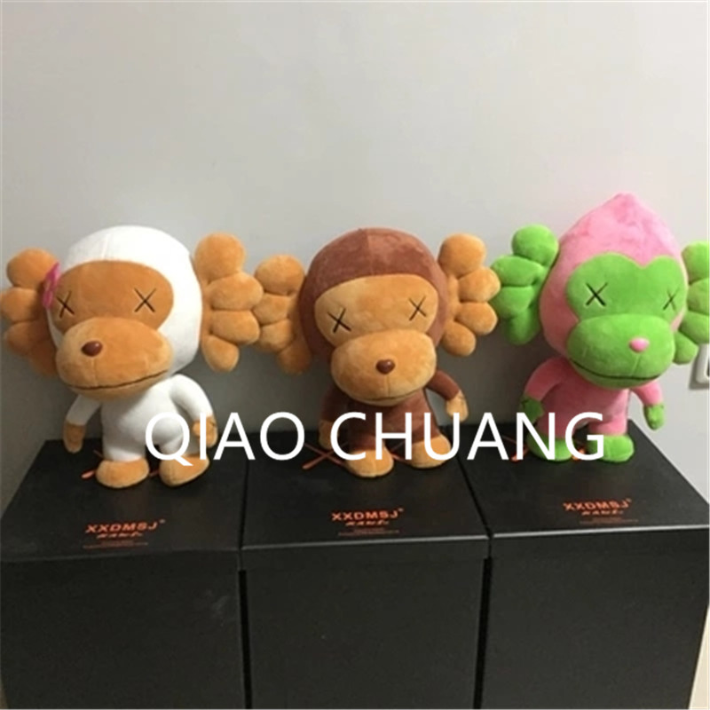 Medicom Toy Street Art Monkey Cosplay KAWS Short Plush Action Figure Collection Model Toy G1255 28 70cm 1000% bearbrick be rbrick attack on titans action toy figure medicom toy art work great gift for friends
