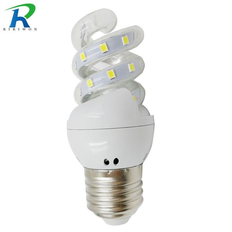 RiRi won E27 LED light Bulb Lamp E27 220V Light Bulb Smart IC Real 5W Power Brightness Lampada LED Bombilla for home decoration