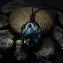 Natural Labradorite Stone Energy Pendant Necklace
