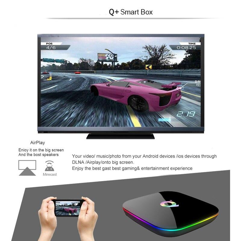 Q PLUS TV Box Smart Android 8.1 Allwinner H6 Quad Core 4GB 64GB EMMC Flash WiFi 6K 3D HDMI 2.0 Media PlayerQ PLUS TV Box Smart Android 8.1 Allwinner H6 Quad Core 4GB 64GB EMMC Flash WiFi 6K 3D HDMI 2.0 Media Player