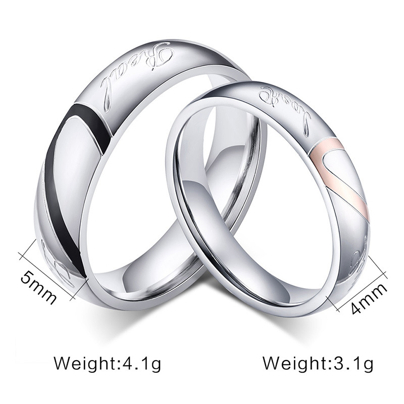 2017 New Fashion Heart Ring Wedding Rings Stainless Steel For Men And Women In From Jewelry Accessories On Aliexpress