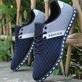 Акция! мужчины Повседневная Обувь Дышащей Обуви Сетки Легкие мужские homme Zapatos hombre chaussure корзина на тонкой подошве XX174