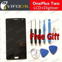 Oneplus two lcd display + touch screen 100{e3d350071c40193912450e1a13ff03f7642a6c64c69061e3737cf155110b056f} buen reemplazo digitalizador asamblea accesorios para uno más 2 teléfono móvil