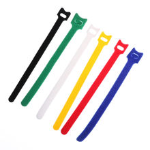 10 Pcs /lot Battery Strap Magic Sticker Battery Ribbon Fastener Cable Tie Wrap Reusable Nylon Strap 200mm *12mm(China)