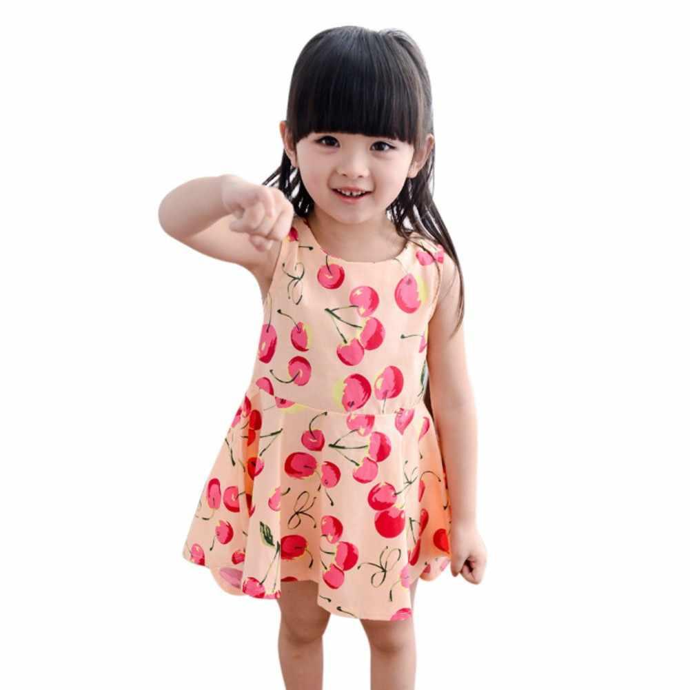 c8dcb44bac1 Новое Летнее Детское платье для девочки принцесса 1-7 лет на день рождения  для новорожденных