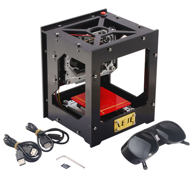 1000mW cnc router Automatic DIY laser cutter laser engraver cnc laser engraving machine USB Off-line Operation + protect Glasses
