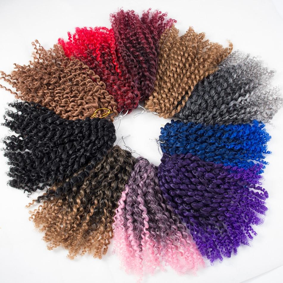 Home Qp Hair Crochet Braids Ombre Spring Twist Hair Kanekalon Synthetic Hair Extensions Braids 8 10 12 Marlibob Braids Mild And Mellow