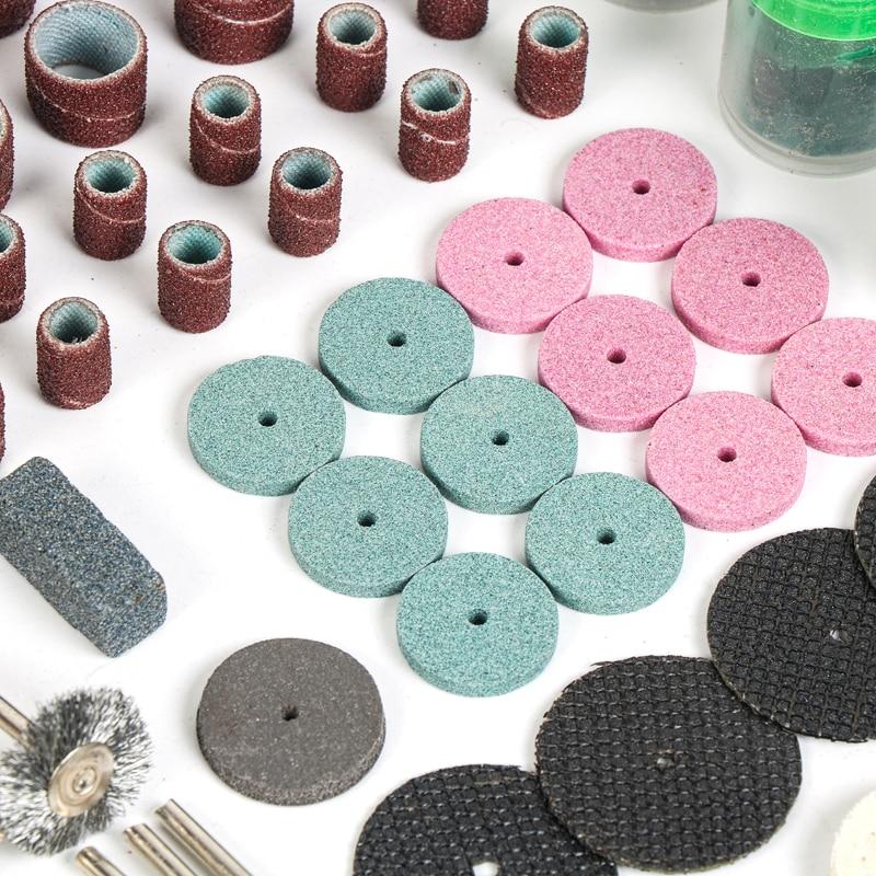 Tungfull Dremel Tools 161pcs Puidutöötlemise poleerimine Mini - Elektritööriistade tarvikud - Foto 3