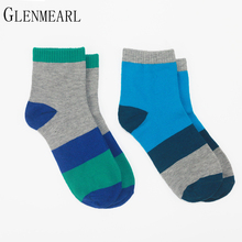 5 pairs/Lot Cotton Women Socks Brand Spring Fall Quality Happy Compression Coolmax Funny Striped Cute Hosiery Ankle Female Socks