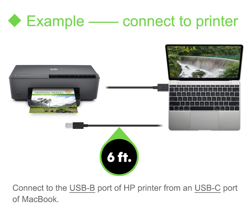 connect hp printer to mac usb