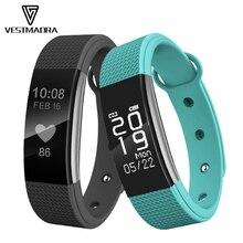 Vestmadra SmartBand Фитнес push Messager браслет, трекер активности сердечного ритма Мониторы Шагомер умный Браслет для IOS Android