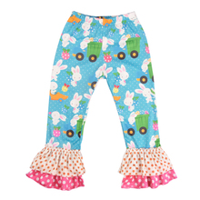 Girl Easter Boutique Rabbit Ruffle Shirt Pants Set