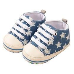 Детская разноцветная Бандаж с принтом звезд; Тканевая обувь для новорожденных; мокасины; l10192
