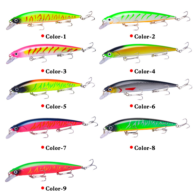 YUZI Wobbler Suspend Jerkbait Fishing Lure Best Quality hooks 14cm/18.3g Sinking Bass Pike Artificial Hard Bait Tackle