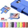 S6 billetera de cuero flip case para samsung galaxy s5 s6 edge plus s7 s7 borde con fotografía y tarjeta de ranura para soporte de la cubierta del teléfono para galaxy S6