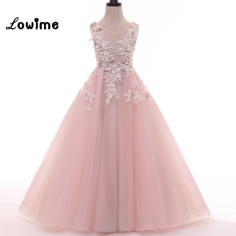 Pink Flower Girl Dresses for Wedding Party vestido daminha Alibaba ...