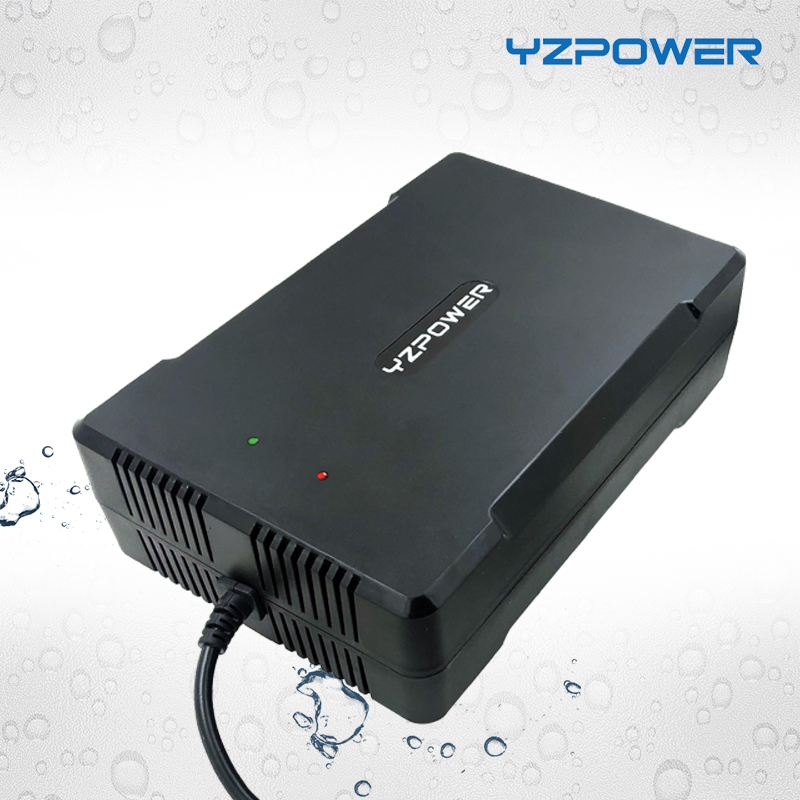 YZPOWER New Arrival Waterproof <font><b>42V</b></font> 8A 7A 6A Lithium Battery Charger <font><b>Adapter</b></font> For 36V Li-ion Lipo Battery Pack Electric Tool image