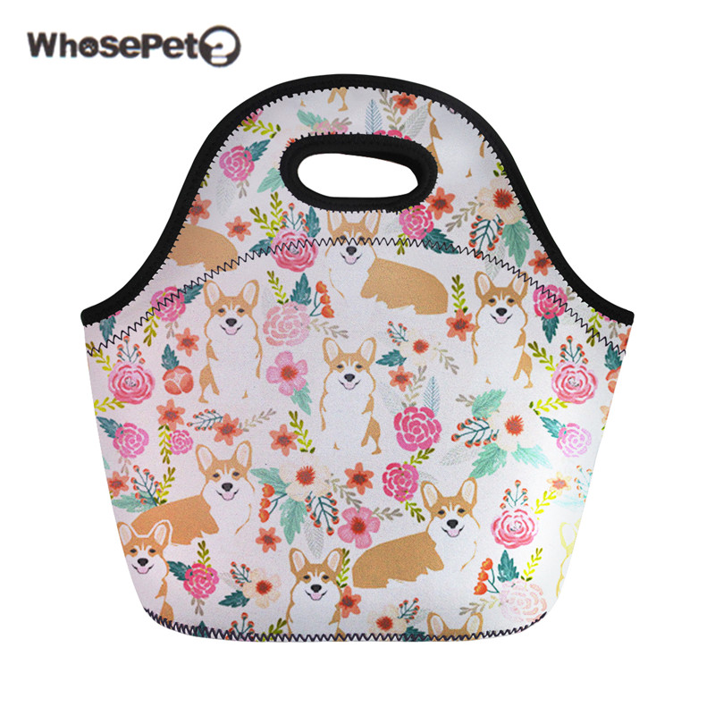 Lunch Bags Forudesigns Lunch Bag Corgi Mermaid Print Picnic Bag For Women Thermal Food Bag Kids Meals Sacola Student Thermo Case Bolsa 2018