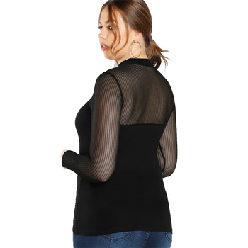 Black Plus Size Blouse Shirt For Women