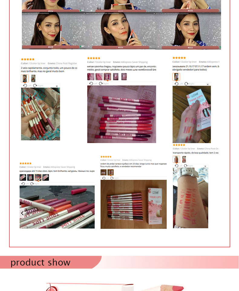 Menow Brand Makeup 12Colors/Set Waterproof Lip liner Pencil Women's Professional Long Lasting Cosmetic Tools P14002 13