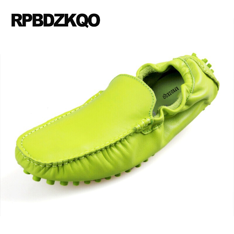 Orange Comfort Loafers Shoes Green Breathable 2017 Summer Men Blue Nice Slip On Yellow Moccasins Casual Latest Footwear Fashion branded men s penny loafes casual men s full grain leather emboss crocodile boat shoes slip on breathable moccasin driving shoes