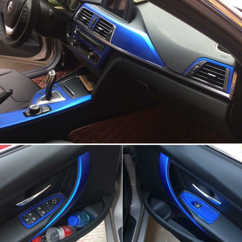 Voiture style fibre de carbone voiture intérieur Console centrale changement de couleur moulage autocollant décalcomanies pour BMW série 3 F30 F31 F32 2013-2019 - 5
