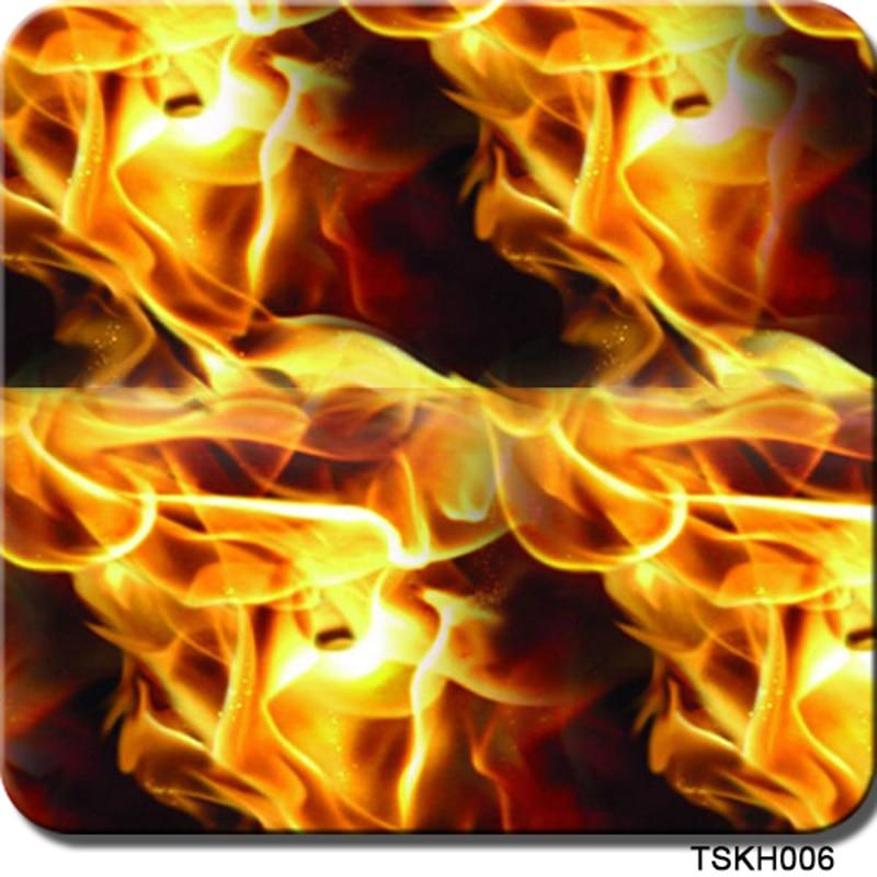 Schneidig Freies Verschiffen 0,5 Mt X 2 Mt Flamme Wassertransferdruck Film Cskh006 Wärmeübertragung Vinyl Für Auto Automobile & Motorräder
