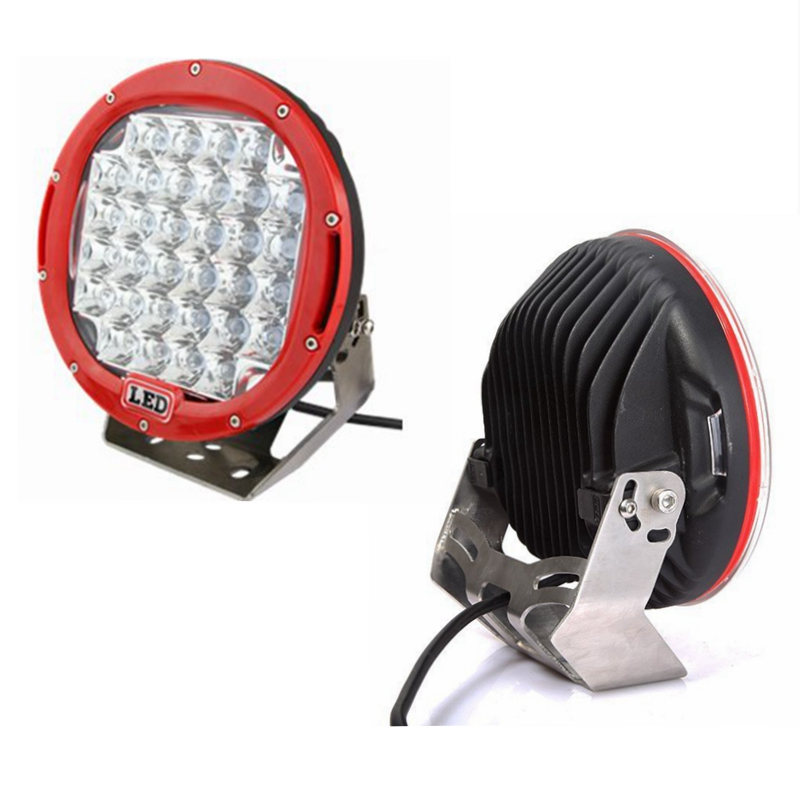 2pcs Red Housing Round 9inch 96w LED Work Light for Offroad Truck Car ATV SUV Jeep Boat 4wd ATV Auxiliary Driving Lamp
