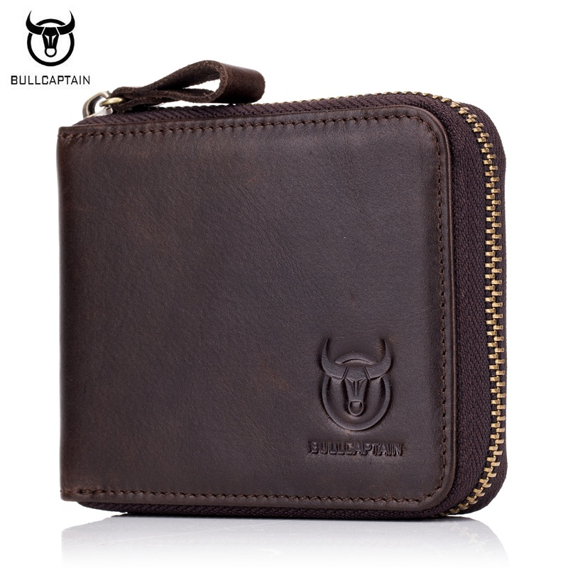 BULLCAPTAIN New Casual Men Wallet Genuine