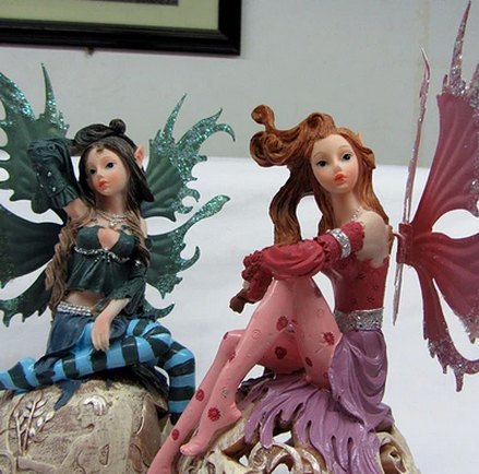 European beauty parlor den furnishings wedding gifts, home accessories resin crafts flower fairy angel ornaments