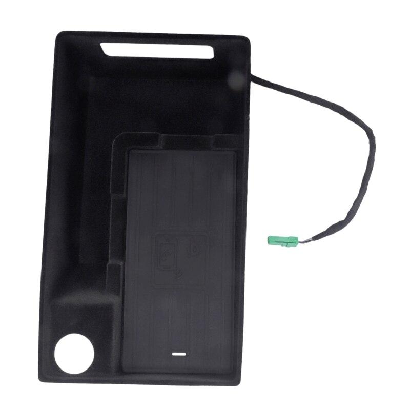 10 Вт автомобильный мобильный телефон Qi беспроводной зарядный Модуль консоль коробка для хранения для Audi A4L A5 S4 2017 2019 автомобильные аксессуа... - 4