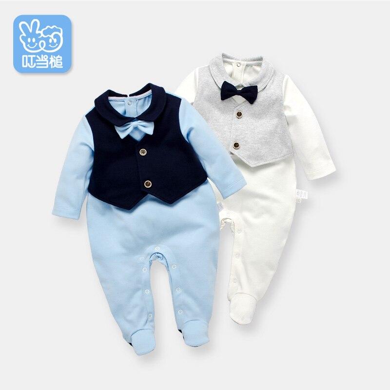 fadb368cbe15 Dinstry Recién nacido Mamelucos Falsos dos piezas de Los Muchachos guapos  Ropa Trajes de Bebé Infantil