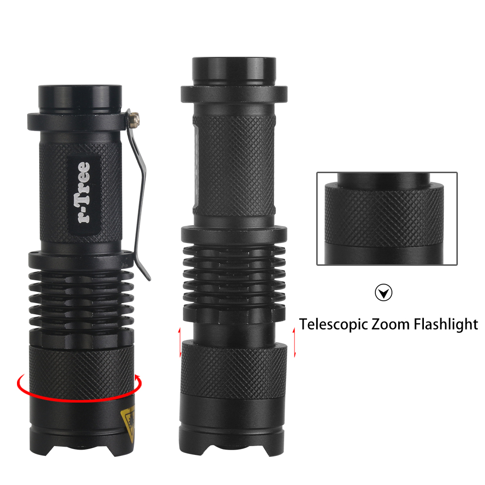 Waterproof Bicycle Front LED Light with ZOOM and flashlight 4