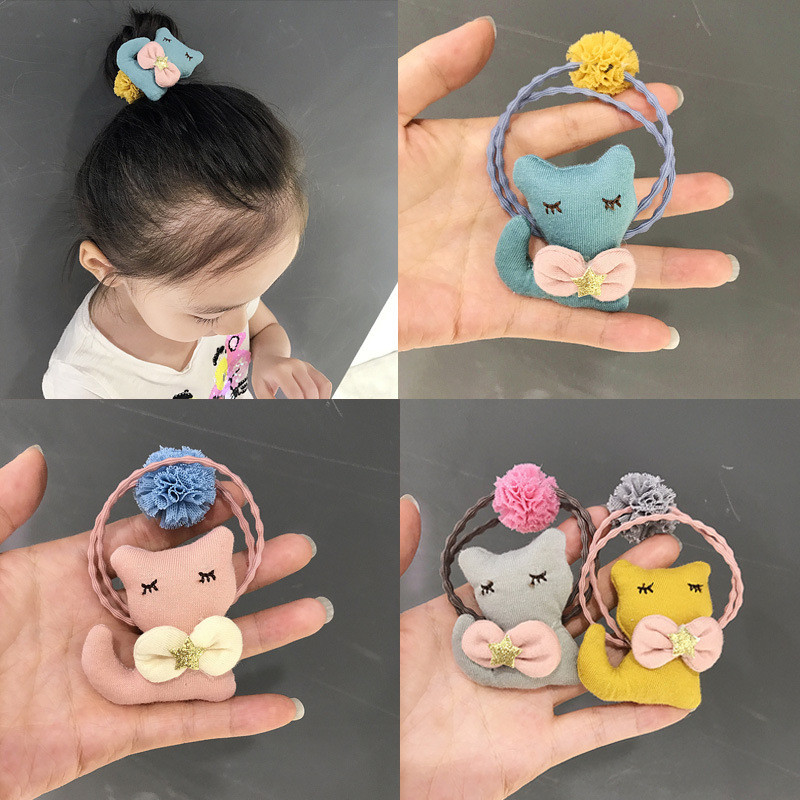 Romantic Creative Cat Girl Hair Circle Korean Version Of The New Bow Tie Hair Circle Children Ornaments Hair Accessories Hair Accessories Girls' Clothing