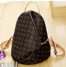 Europe Famous Design Vintage Printing Backpack High Quality Pu Backpack Women Retro Zipper Travel Backpack School Bags For Girls