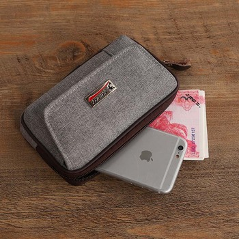 Cowboy Canvas Phone Pouch Belt Clip Bag for Samsung Case with Pen Holder Waist Bag Outdoor Sport 2