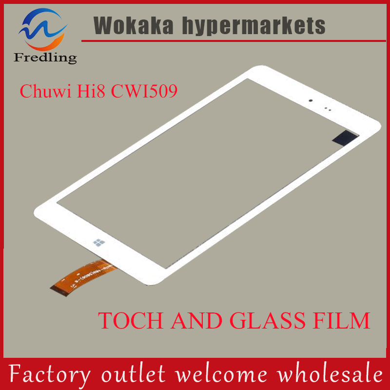Glass film+Touch Screen Digitizer For Chuwi Hi8 Intel Z3736F Quad Core PC Tablets 8inch Touch panel sensor replacement 9 7 inch tablet pc touch screen panel digitizer glass sensor replacement f wgj97119 f wgj97119 v2