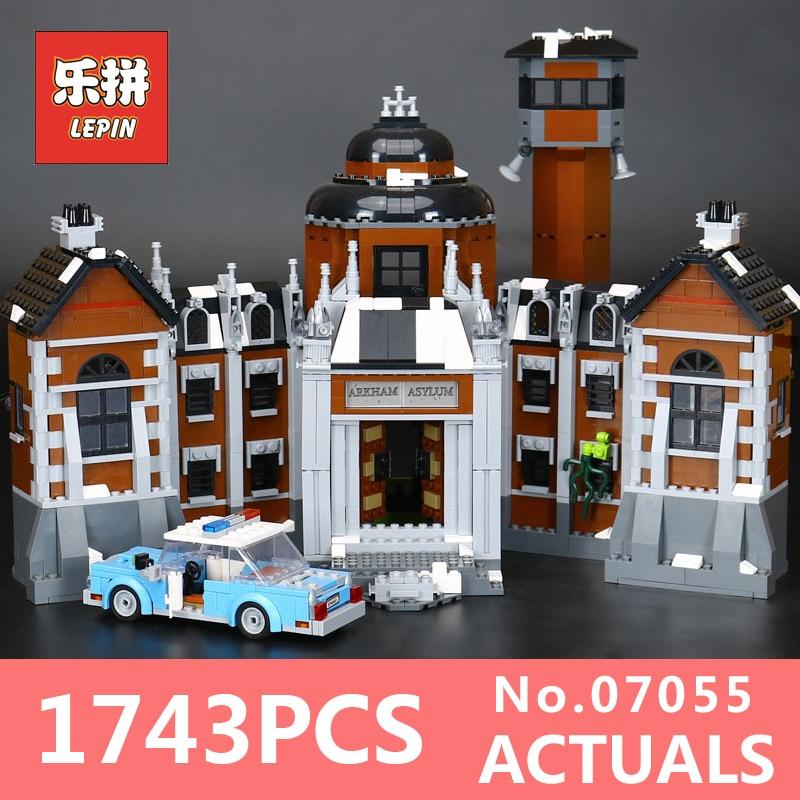 New 1628Pcs Lepin 07055 Genuine Series Batman Movie Arkham Asylum Building Blocks Bricks Toys with 70912