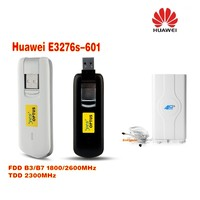 Débloqué stock huawei E3276s-601 Mobily connecter 4G dongle lte FDD 1800/2600 MHz TDD2300MHz plus 49dbi 4G LTE MIMO antenne