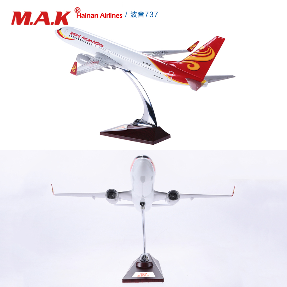 40cm/43cm Alloy Metal Hainan Airlines Boeing 737/738 Decoration Airplane Models Child Birthday Gift Plane Model with Stand цена