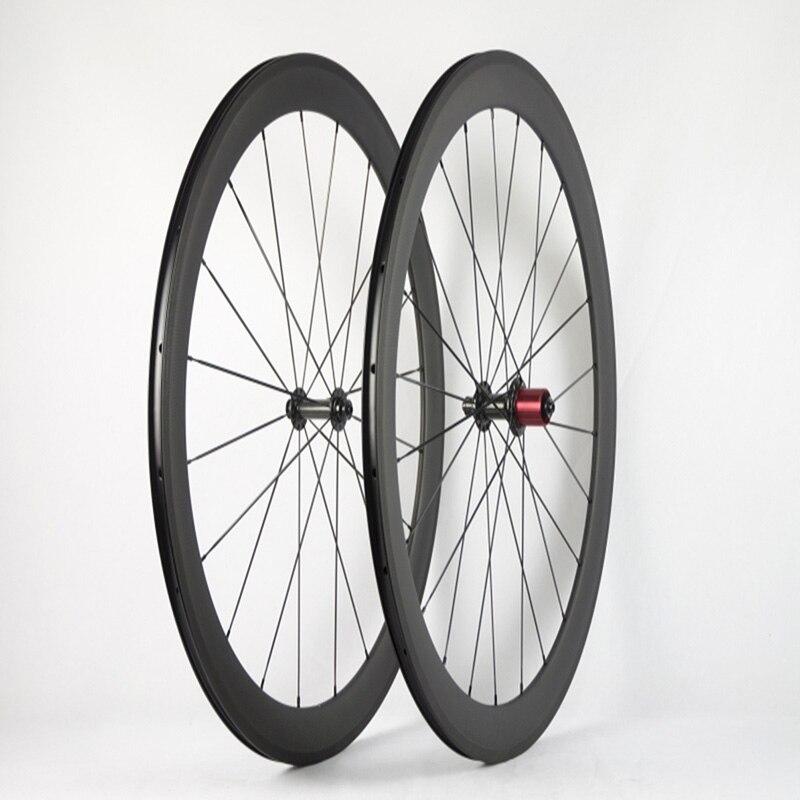 Contador super léger en fibre de carbone fleur tambour 50mm tube ouvert pneu route en fibre de carbone groupe de roues couteau 700C gros anneau vélo de route.