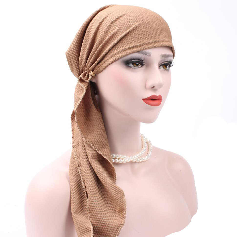 Muslim Headscarf 2017 Women Hijab Cap Hat Cap Under Scarf Bone Bonnet Neck  Cover Muslim Headwear c6708d1b174