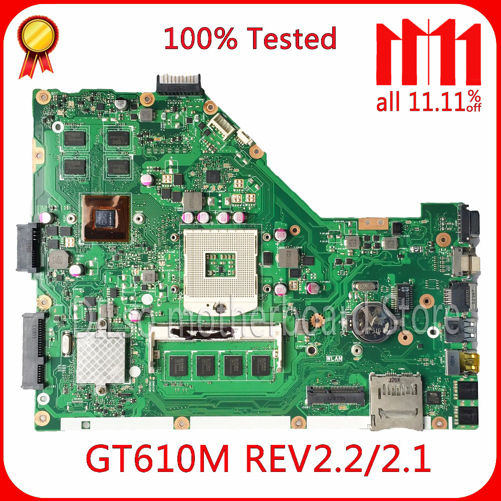 цена KEFU X55VD laptop motherboard for ASUS X55VD motherboard DDR3 rev2.2 Non-Integrated work 100% Test