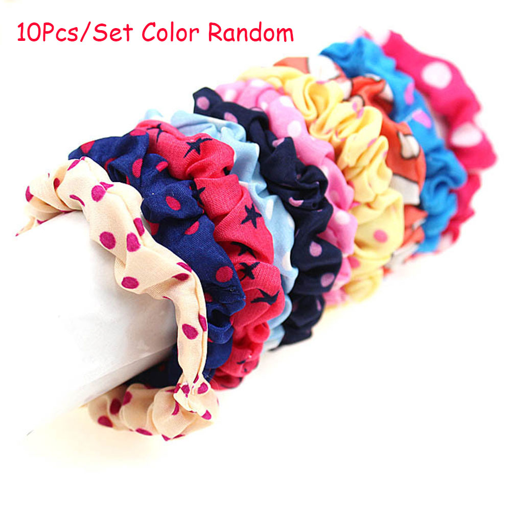 10 Pieces Hair Band Ponytail Holder Accessories Headwear Hairband Head Accessories Headband For Kids Ponytail Pretty Girl