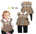 New design fashion baby girls cotton long sleeve plaid dress rompers fashion brand name kids fake two piece clothes girl rompers