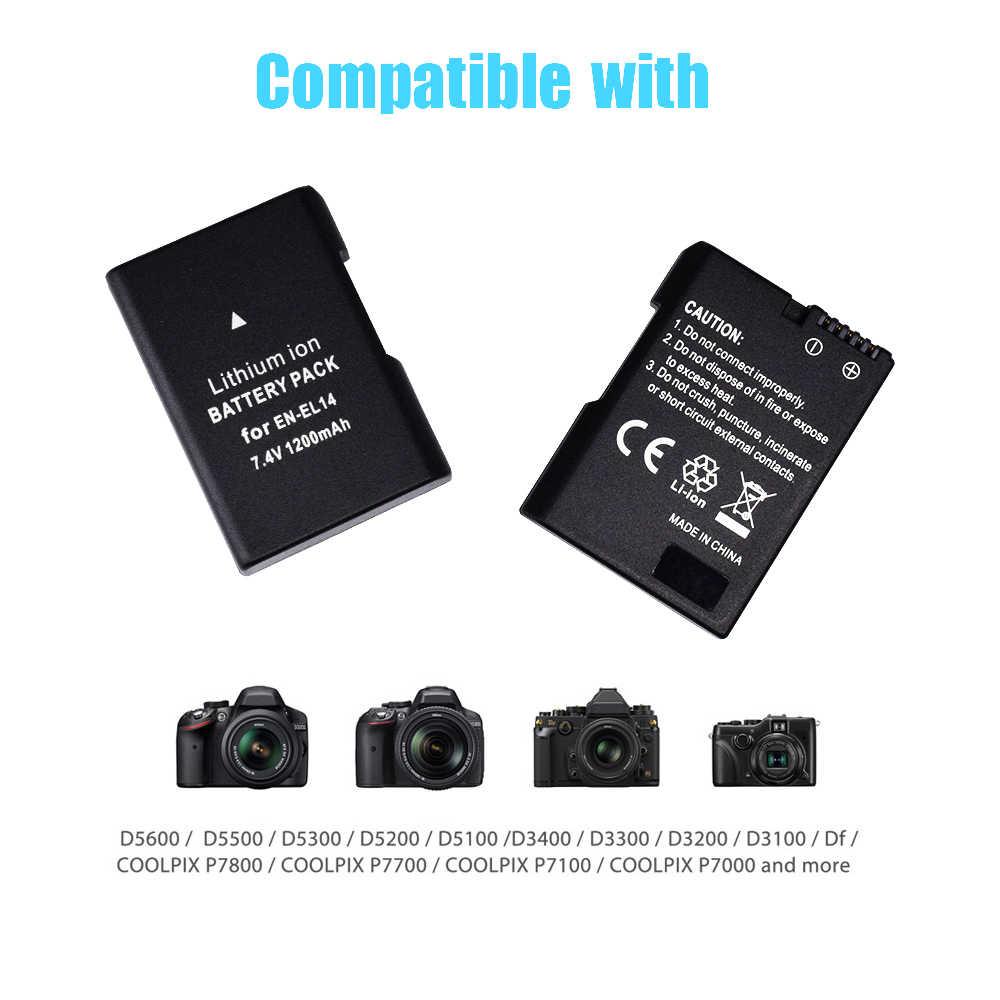 EL-E14 ENEL1 EN-EL14a EL14 1200 Mah 7.4 V Li-Ion Digitale Batterij Voor Nikon D3100 D3200 D3300 P7100 P7200 P7800 D En P Serie