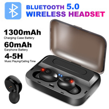 Noise Cancellation Bluetooth Earbuds  Stereo Earphone Tws Wireless Headset Bring Charge Warehouse Move Power Supply With Mic Eh* wireless business affairs bluetooth earphones pleasant 180 degree rotating stereo music headset noise cancellation earbuds eh
