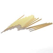 цена на 100 PCS Nickel Plated Gold Spring Test Probe For Electrical Test Equipmen PM75-J1 Length 27.8m Head Diameter 0.74mm Power Tool