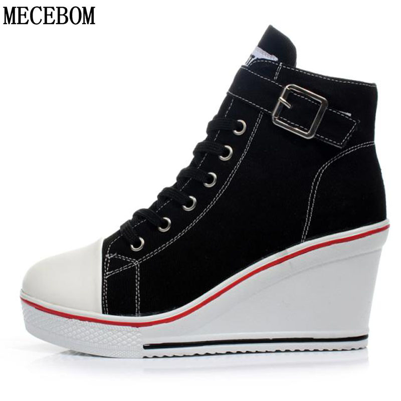 2018 Summer Casual Canvas Camping Flat Heel Wedge Platform Sexy Beach Women Shoes Sport Sneakers Zapatillas Femme Mujer 6850W