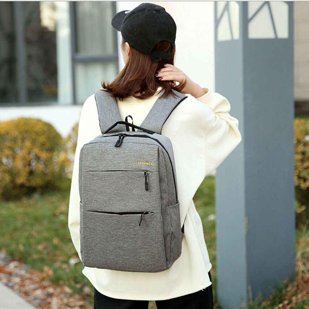 Новый Противоугонный мужской и женский рюкзак с usb-зарядкой на молнии, унисекс, большой емкости, ноутбук, деловая сумка